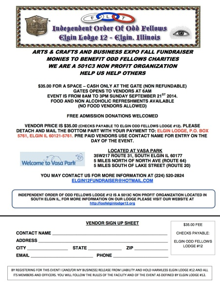 Elgin Event Vendor form 2014