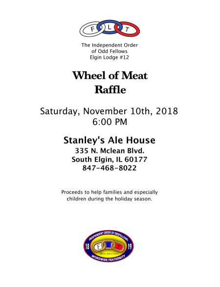 Elgin12 meat raffle 2018